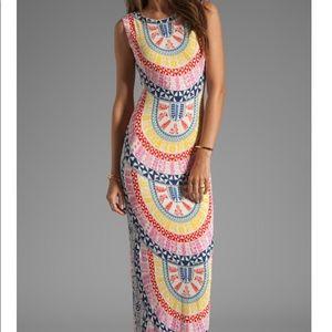 MARA HOFFMAN Printed Slit Column Maxi Dress